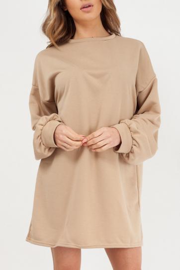 a85ed78e25 Camel Oversized Sweater Dress